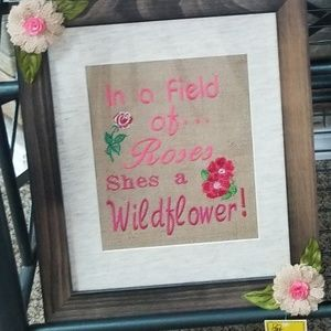 1...Wildflower embroidery  2-Prayed for.. 3-Pray